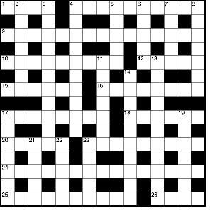An example of a crossword puzzle